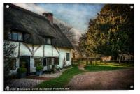 Sulhamstead Abbots Cottages, Acrylic Print