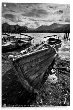 Derwentwater Rowing Boat, Acrylic Print