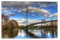 Christchurch Footbridge Reading, Acrylic Print