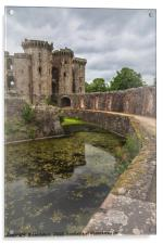 Pathway By The Castle Moat, Acrylic Print