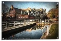 County Lock and Brewery Stables Reading, Acrylic Print