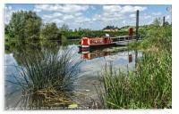 Moored on the Avon At Tewkesbury, Acrylic Print