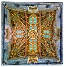St Davids Cathedral tower ceiling, Acrylic Print