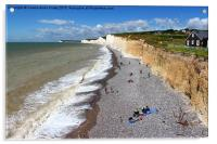 Seven Sisters From Birling Gap, Acrylic Print