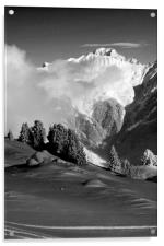 Courchevel 1850 Mont Blanc French Alps France, Acrylic Print