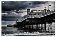 Brighton Pier amidst the storm, Acrylic Print