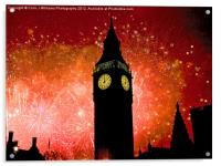 Big Ben - New Years Eve, Acrylic Print