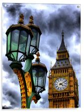 Big Ben And Lamp, Acrylic Print