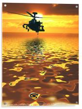 Apache AH-1  Attack Helicopter, Acrylic Print
