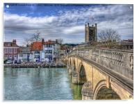 Henley On Thames And The Angel, Acrylic Print