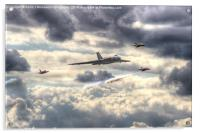 Avro Vulcan And The Gnat Display Team Dunsfold 1, Acrylic Print