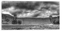 The Two Lancasters The Derwent Dam, Acrylic Print