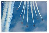 Red Arrows Eastbourne 3, Acrylic Print