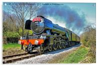 The flying Scotsman on the  KWVR - 1, Acrylic Print