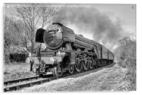 The flying Scotsman on the  KWVR - 1 BW, Acrylic Print