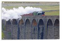Flying Scotsman At The Ribblehead Viaduct, Acrylic Print