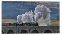 Steam Over The Ribblhead Viaduct - 3, Acrylic Print