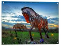 The Featherstone War Horse, Acrylic Print