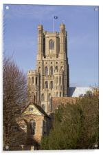 Ely Cathedral West Tower, Acrylic Print