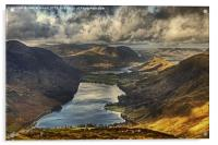 The View From Fleetwith Pike, Acrylic Print