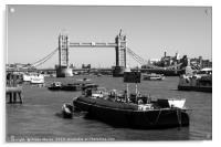 Tower Bridge From The River Thames , Acrylic Print