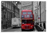 London Red Bus, Acrylic Print