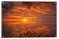 New Brighton Sunset ( Reflections), Acrylic Print
