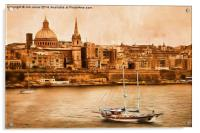 Valletta Malta in the style of Georgia O'Keefe, Acrylic Print