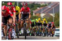 Tour of Britain Cycle Race 2015, Acrylic Print