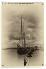 Antique Plate Tall Ship, Acrylic Print