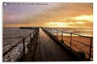 The Old Wooden Pier, Acrylic Print