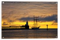 The Flying Dutchman leaving port, Acrylic Print