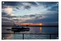 Early start for the River Blyth Pilot cutter, Acrylic Print
