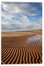 Ripples in the sand, Acrylic Print
