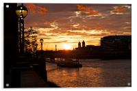 Sunset at Southbank, Acrylic Print