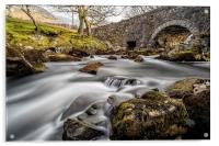River Ogwen Bridge, Acrylic Print