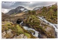 Ogwen Bridge Winter, Acrylic Print