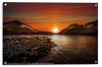Idwal Lake Sunset, Acrylic Print