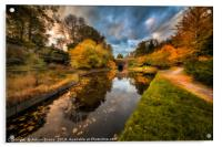 Chirk Canal Autumn, Acrylic Print