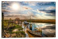 A perfect day at Thornham, Acrylic Print