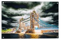 Tower Bridge - Solar Blur and Zoom, Acrylic Print