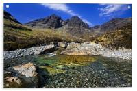 Red Cuillin Mountains on Skye, Acrylic Print