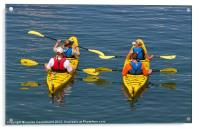 Kayakers, Bar Harbor, Maine, Acrylic Print
