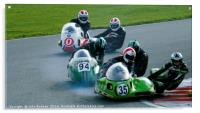 Racing sidecar at Snetterton racetrack , Acrylic Print