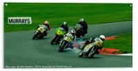 Racing bikes at Snetterton racetrack , Acrylic Print