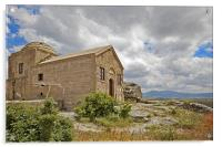 Isolated church in wilderness of Cappadocia, Acrylic Print