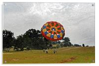 Tandem girlie Paragliders lift off, Acrylic Print