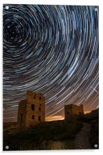 Perseids Over Wheal Coates, Acrylic Print