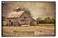 Old Wooden Barn, Acrylic Print