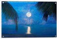 Tropical Moonglow, Acrylic Print